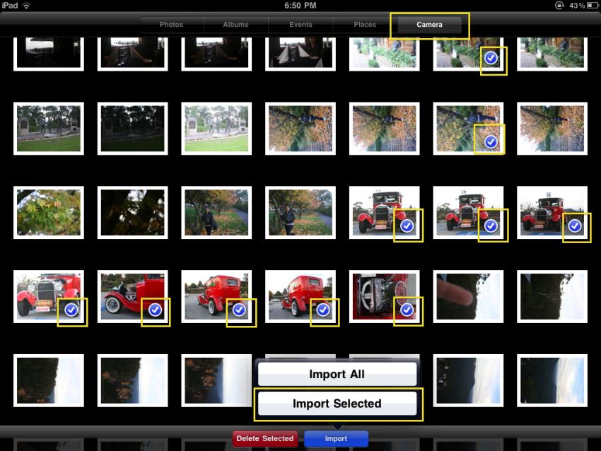 Import Selected Photos Ipad Photo Insomnia