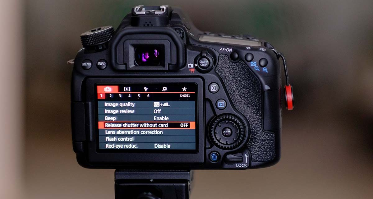 Turn Off – Release Shutter without Card