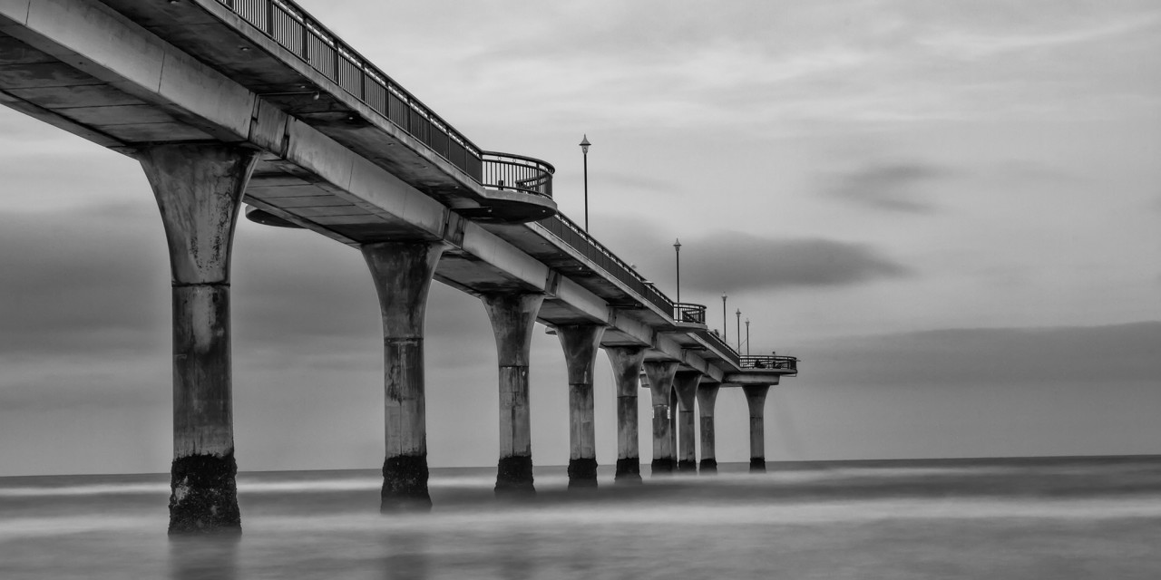 New Brighton Pier in Black and White