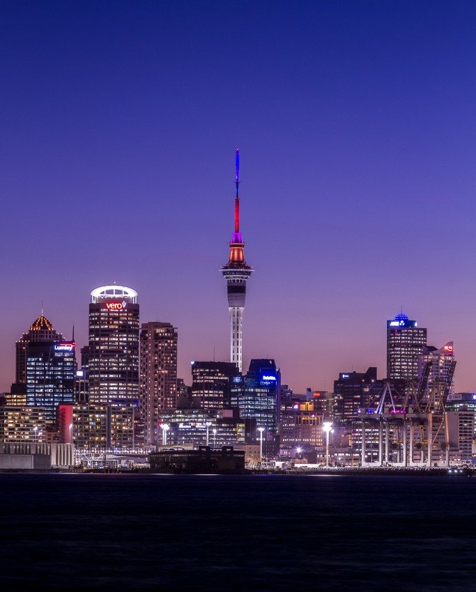 Auckland City Skyline - Sky Tower