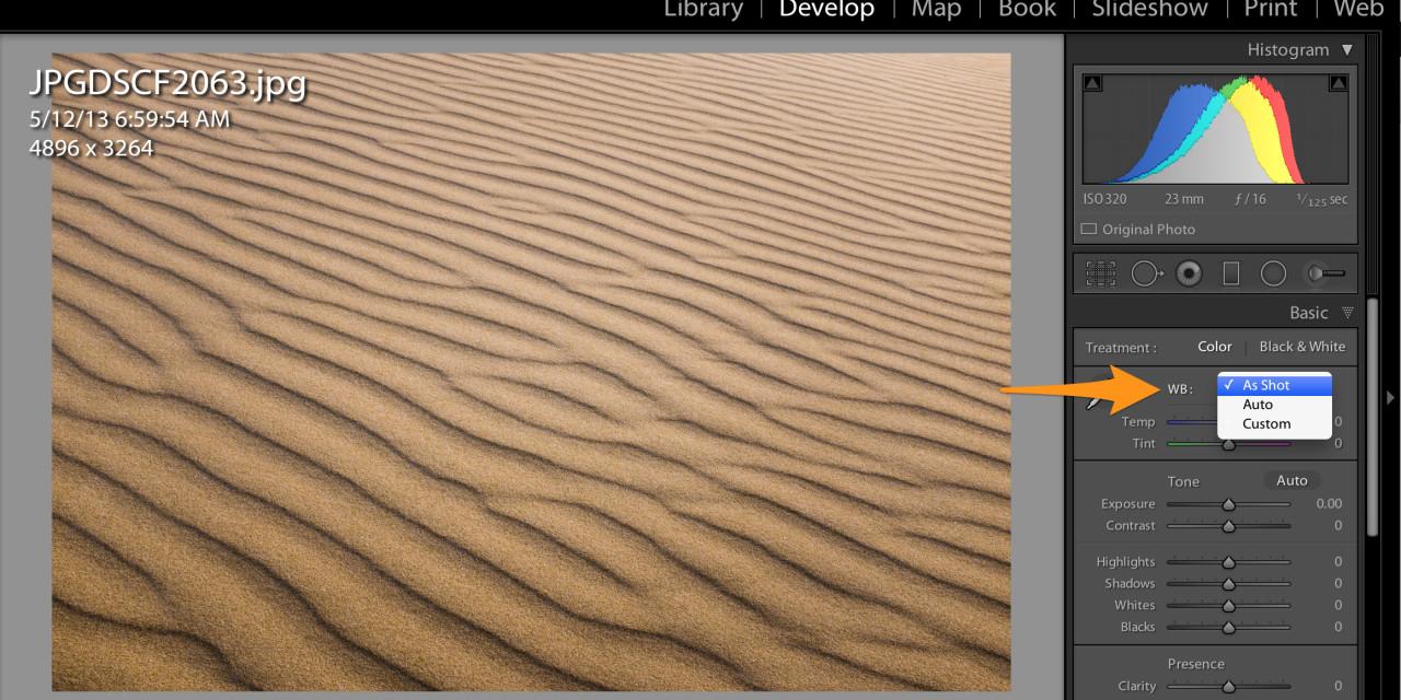 Lightroom White Balance Presets for JPEG shooters