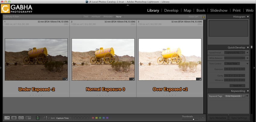 HDR Image Series (-2, 0, +2)