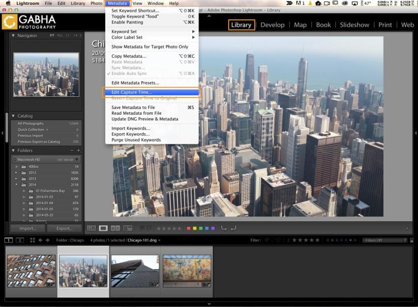 Editing Capture Time - Lightroom