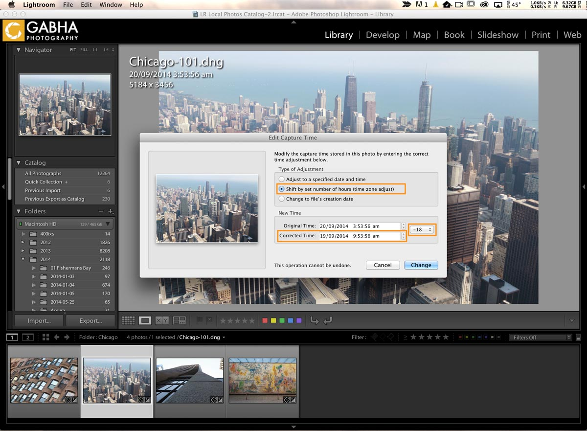 Editing Capture time of your Photos in Lightroom