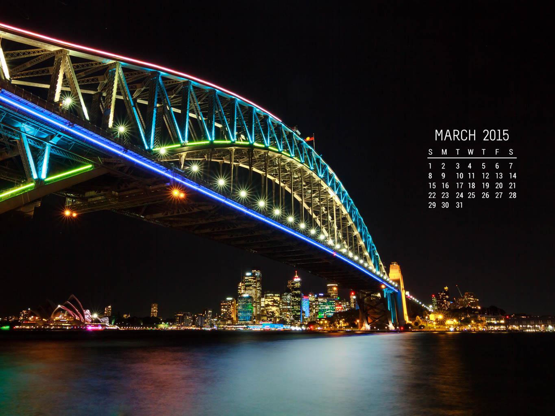Free Calendar Wallpaper – March 2015