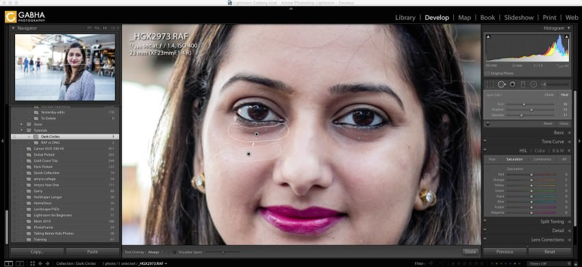 Remove Dark Circles in Lightroom - 1