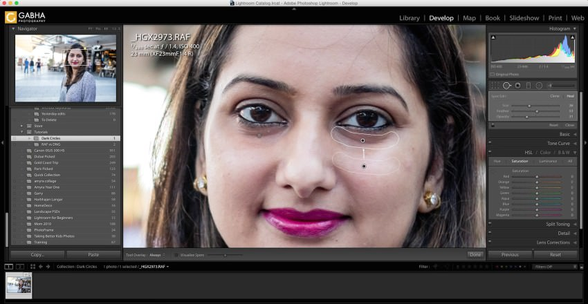 Remove Dark Circles in Lightroom - 2