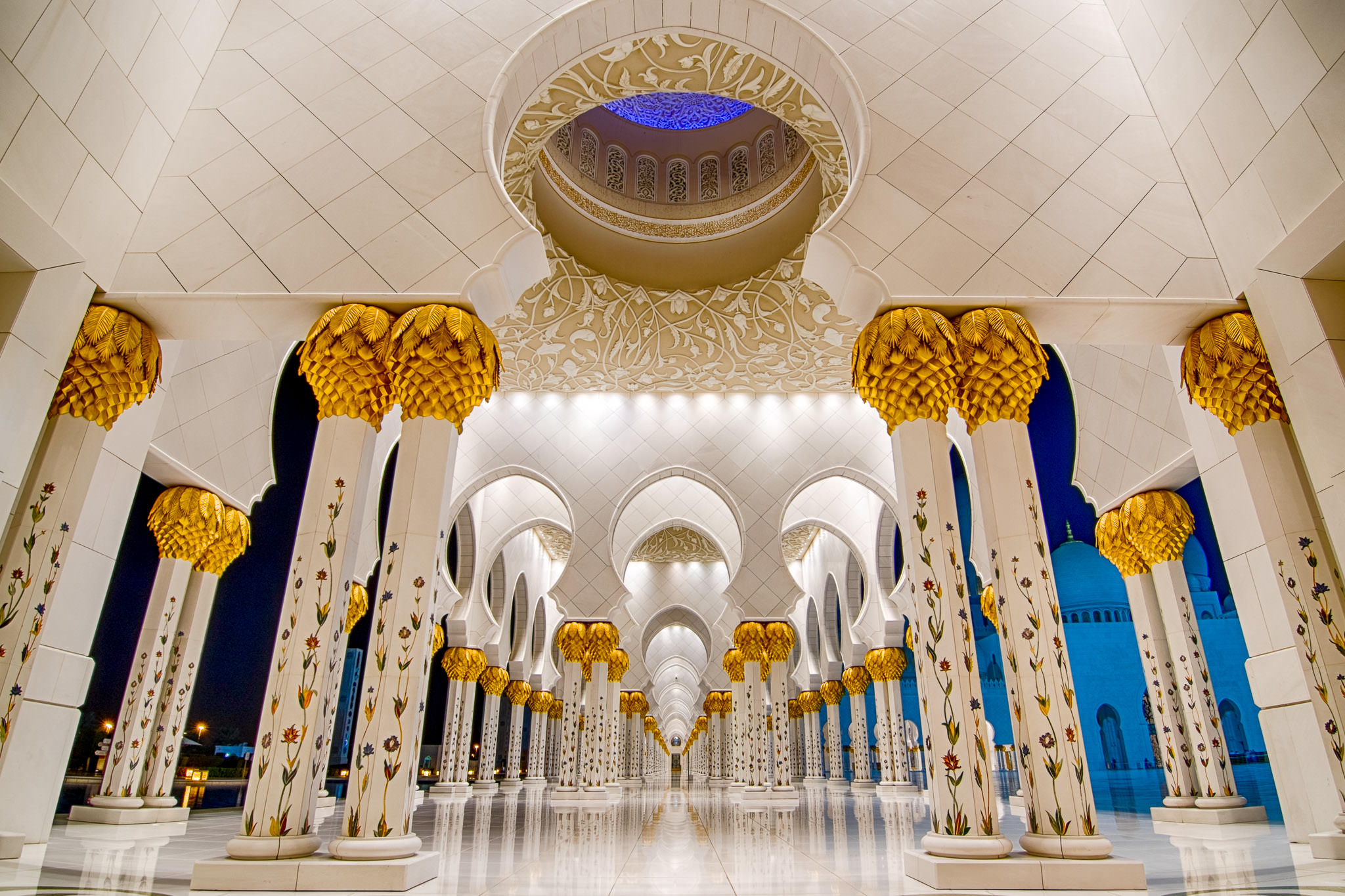 Corridor at Sheikh Zayed Grand Mosque