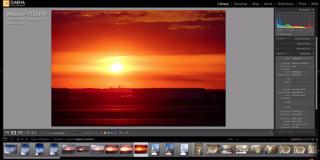 Editing Correcting Image Capture Time in Lightroom
