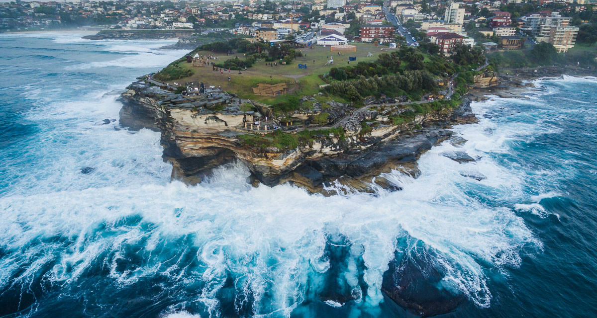 Sculptures by the Sea 2015 with a Drone