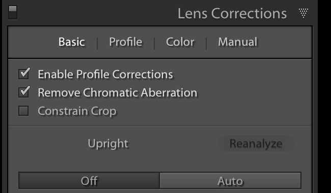 Lens Correction & Chromatic Aberration