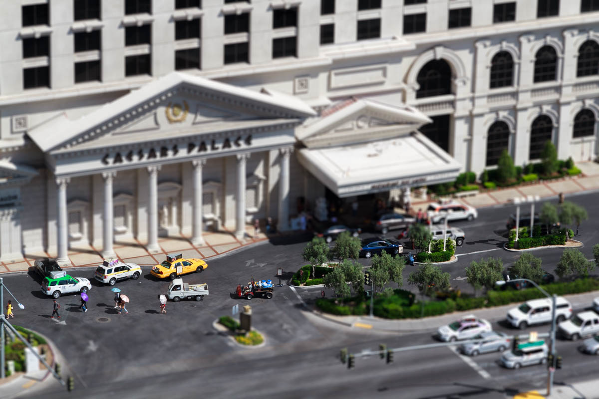 Caesar's Palace Miniaturised Effect