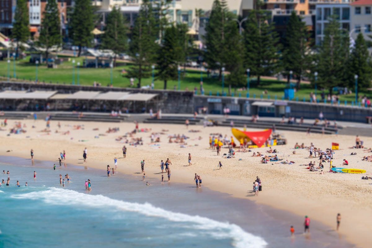 Coogee Beach Miniaturised Effect