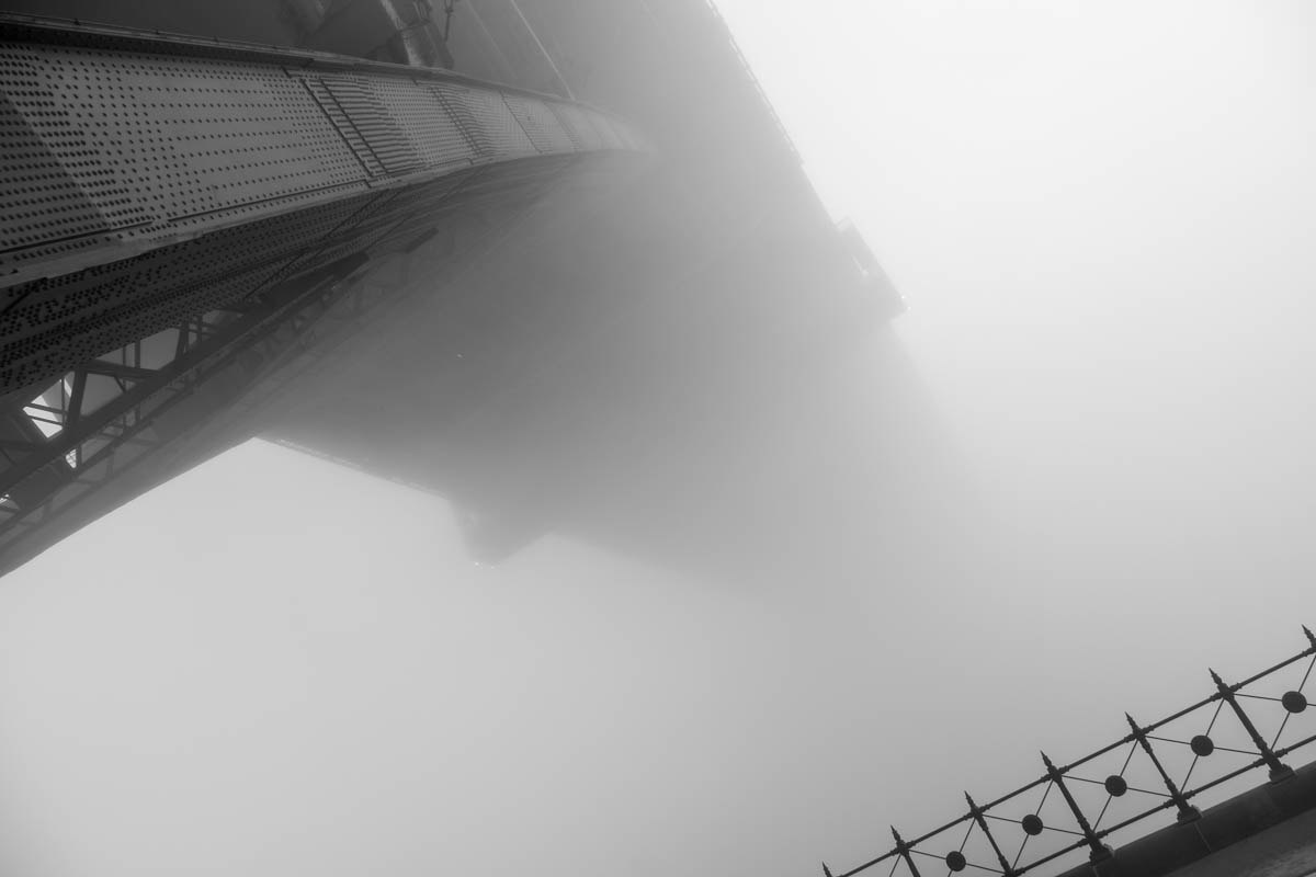 Sydney Harbour Bridge in Fog