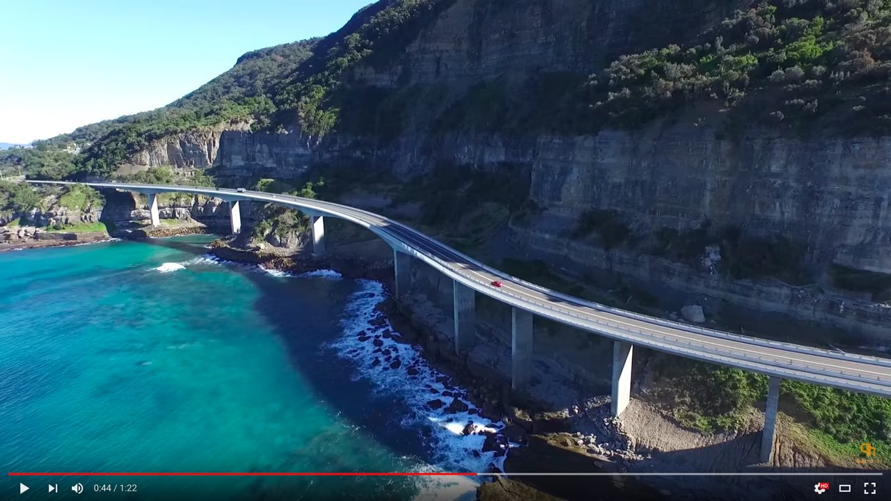 Sea Cliff Bridge – Drone Video