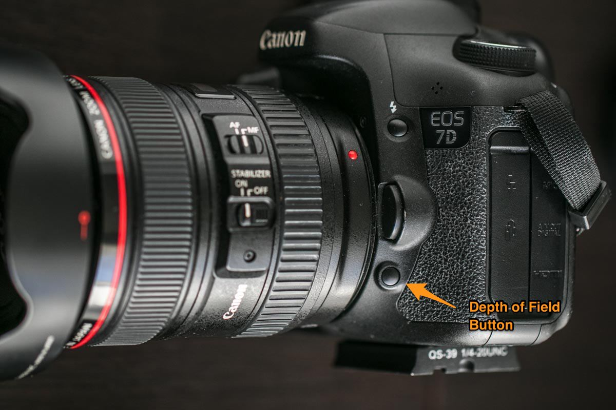 Depth of Field (DOF) Button on Canon 7D