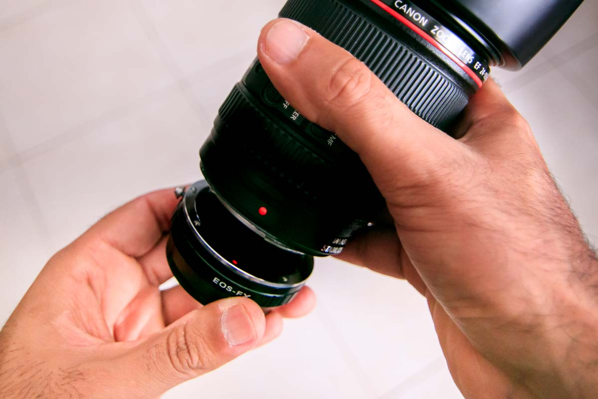 Line up the Lens to attach