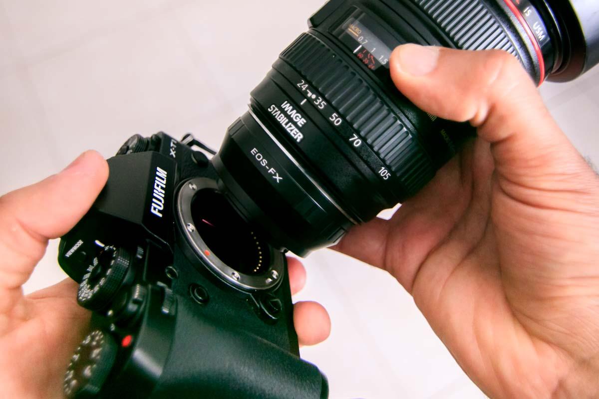 Mount Lens on X-T1