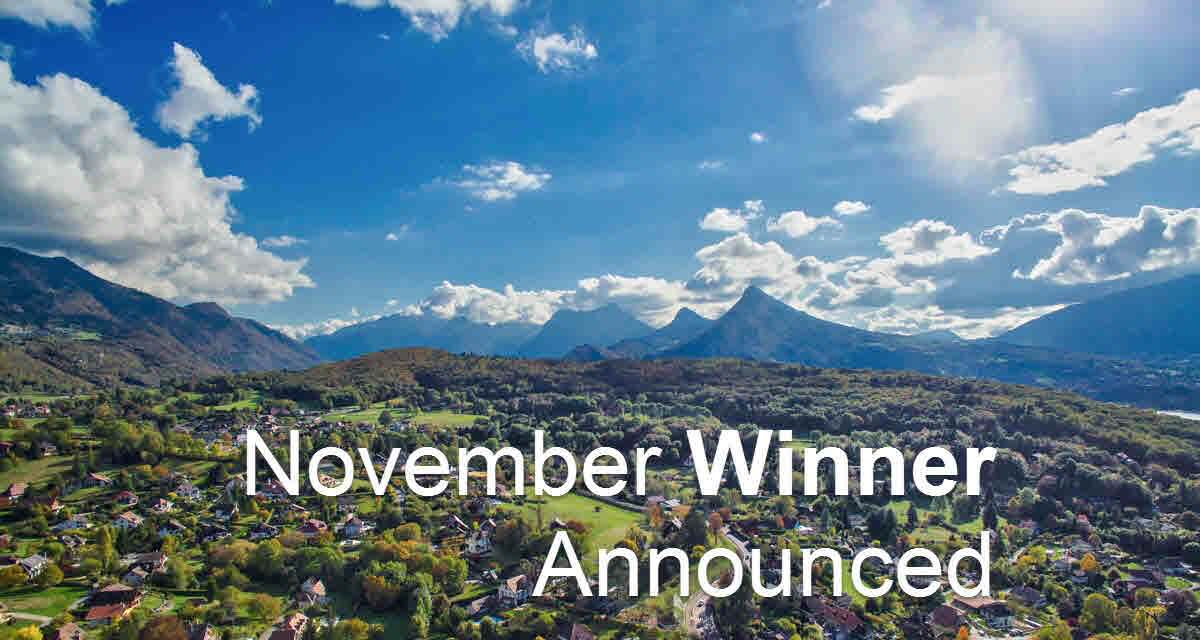 November Winner Announced