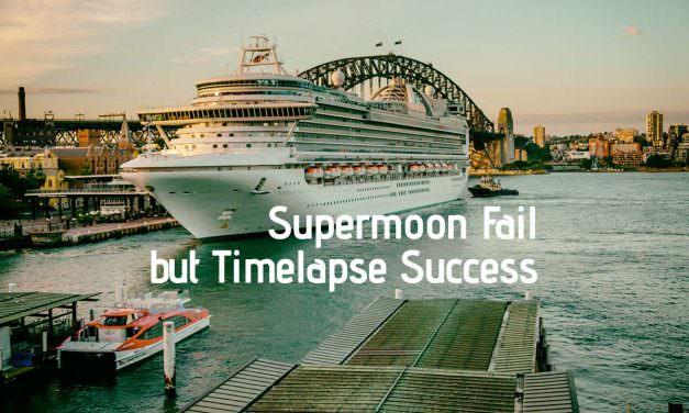 Supermoon Fail but Timelapse Success