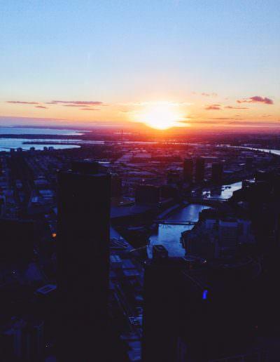 Docklands Sunset Melbourne