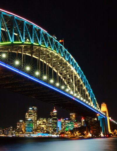 Sydney Harbour Bridge at Vivid
