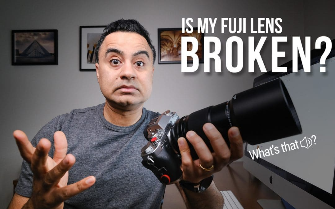 What is the 'Clanking' sound from your FUJIFILM lens?